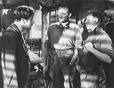 THE WAY AHEAD: Peter Ustinov, David Niven, Leslie Dwyer.